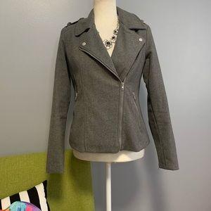 dELiA*s Grey Wool Blend Moto Style Peacoat